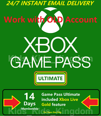 $3.36 • Buy Xbox Game Pass Ultimate 14 Days - Xbox Live Gold + Game Pass, Instant Delivery