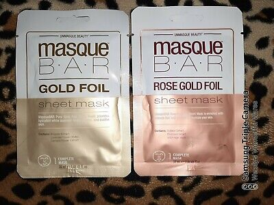 1x UNMASQUE BEAUTY Mask B.A.R Pick: Gold / Rose Gold Foil Sheet Mask - Hydrates • 2.98£