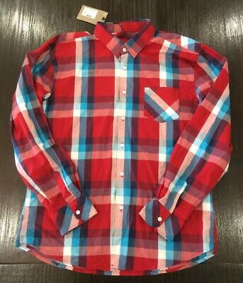AU30 • Buy Y-london XXXL Shirt Mens Long Sleeve Collared Button Up Red Blue White New