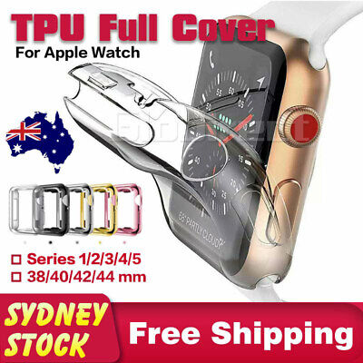 AU4.75 • Buy For Apple Watch IWatch Soft TPU Case Series 6 5 4 3 SE 38/40 42/44 Mm Full Cover