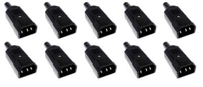 10 X IEC Male Connection Mains 240V Plug Disco Lights DJ Stage Theatre • 14£