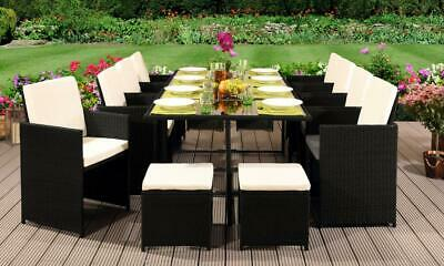 £849.99 • Buy Rattan Outdoor Garden Patio Furniture 13pc Cube Set -8 Chairs 4 Stools & Table