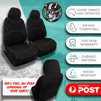 AU149 • Buy For Suzuki Jimny All Over Black Neoprene Front Car Seat Covers Water Resistant