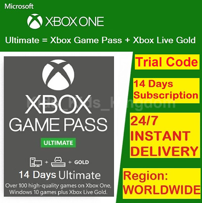 $2.29 • Buy XBOX LIVE 14 Day GOLD + Game Pass (Ultimate) Trial Code INSTANT DISPATCH