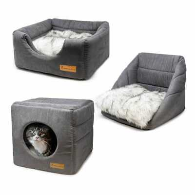 £21.24 • Buy AllPetSolutions Small Washable Cat Bed Igloo Dog Puppy Kitten Grey Cave House