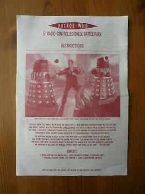 Doctor Who 5  Radio Controlled Dalek Battle Pack Instructions. Spares. • 2£