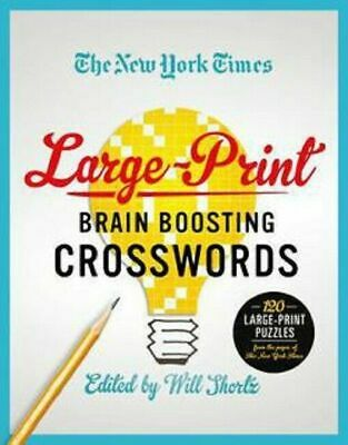 $10.75 • Buy Large-Print Brain Boosting Crossword Puzzles Book The New York Times Will Shortz
