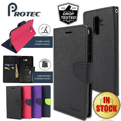 AU8.99 • Buy For Samsung Galaxy J8 J7 J6 J5 Pro Case GOOSPERY Leather Wallet Card Cover
