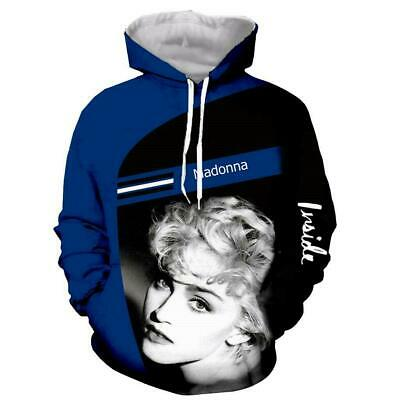 $ CDN17.43 • Buy Popular Star Madonna 3D Print Hoodie Men Women Casual Sweatshirt Pullover Tops
