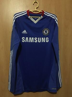 Fc Chelsea 2010/2011 Player Issue Home Football Shirt Jersey L/s Techfit Adidas • 99.99£