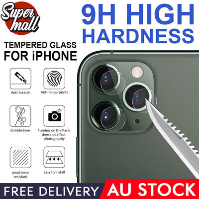 AU3.99 • Buy 2X IPhone 11 Pro Max 11 HTP Camera Lens Tempered Glass Screen Protector Apple