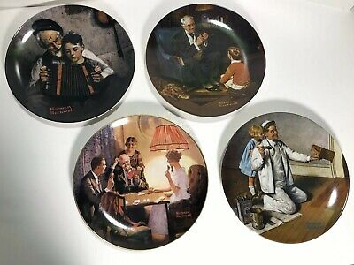 $ CDN34.44 • Buy Lot Of 4 - Norman Rockwell Knowles Plates