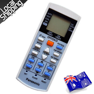 AU15.80 • Buy Panasonic Air Conditioner Replacement Remote Control A75C3012, A75C3762 NEW