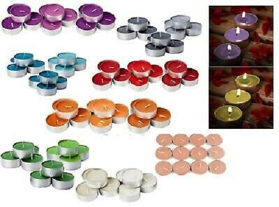 8 HOURS BURNING TIME SCENTED TEALIGHTS CANDLES - Fastest Delivery • 6.99£
