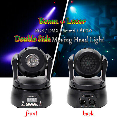 £68.29 • Buy 50W Double Sides Moving Head RGB Beam+Laser Stage Lighting LED DMX Disco Party