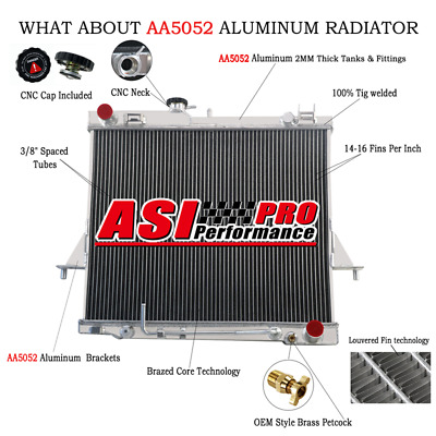 AU199 • Buy 3 Row Radiator For Mitsubishi Pajero 2.8L 4M40 Turbo Diesel NJ NK NL MT 1994-00