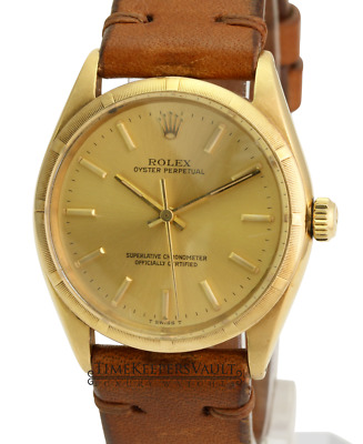 $ CDN5943.87 • Buy Vintage Rolex Watch Men's Oyster Perpetual1005 14k Yellow Gold Turn-o-Graph 34mm