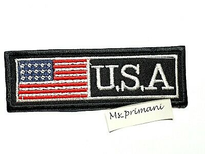 USA Iron On Patch Sew On Cloth United States Of America Flag US Embroidery Badge • 1.75£