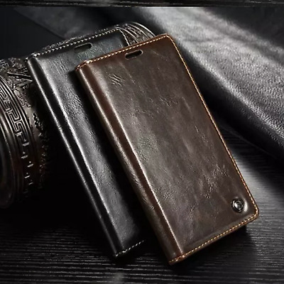 $ CDN7.04 • Buy For Samsung Galaxy Note 8 4 5 Case Magnetic Flip Leather Wallet Cover Luxury Uk