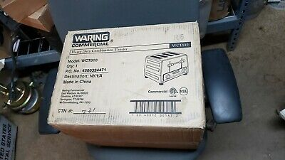 Waring Commercial Toaster WCT810 Heavy Duty Combination 4 - Slice • 249$