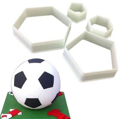 Cookie Cutter Hexagon Pentagon Football Tool Shape Biscuit Cake Cupcake Topper • 4.99£