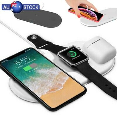 AU24.69 • Buy 3 In1 Qi Wireless Charger Pad Fast Charging For Airpods IWatch IPhone 11 XS X AU