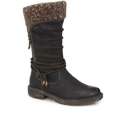 Relife By Pavers Womens Knee High Boots Fleece Contrast Stitching Casual Shoes • 95.99£