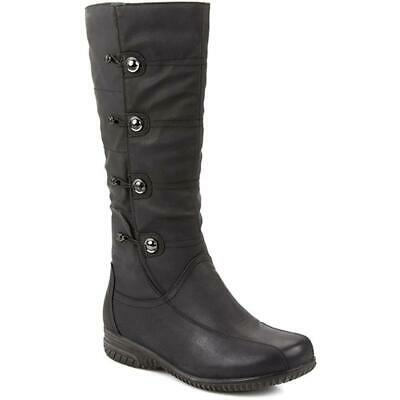 Pavers Womens Calf Length Boots Side Button Detailing Sturdy Sole Casual Shoes • 75.99£