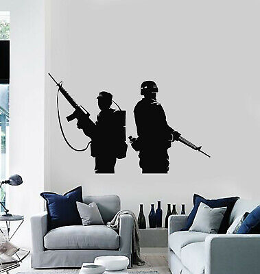 $29.99 • Buy Vinyl Wall Decal Military Soldier Gun Weapon Man Cave Decor Stickers (g1887)