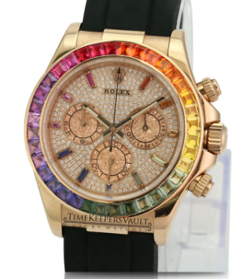 $ CDN54138.27 • Buy Rolex Daytona Everose Gold Diamond Dial  Rose Gold 40mm Chronograph 116515