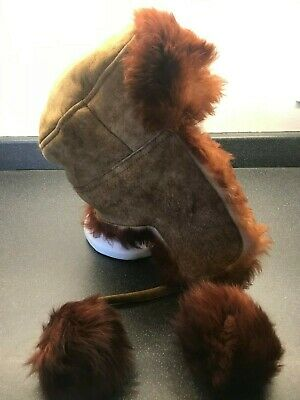 New Pilot Hat Helmet /& Goggles Brown Aviator WW2 RAF Ski  Leather Sheepskin