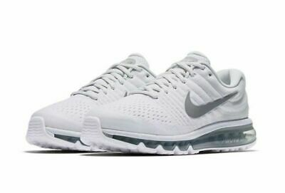 $113.99 • Buy Nike Air Max 2017 Running Shoes White Platinum Wolf Gray 849559-009 Men's NEW