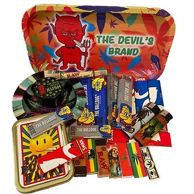 £23.99 • Buy Rolling Tray Gift Set From The Devil's Brand, Raw, Bulldog,smoking, Brand New