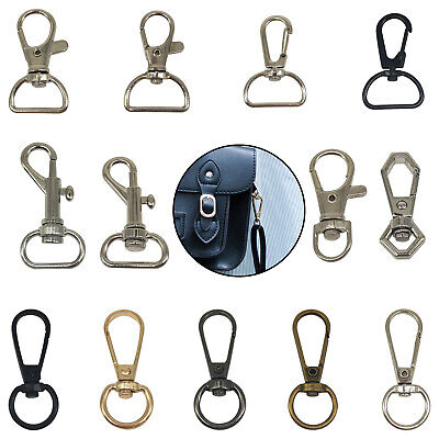 Lobster Clasps Keychain Swivel Trigger Clips Snap Hooks Bag Key Split Ring Clasp • 3.69£