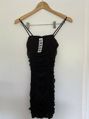 AU30 • Buy URBAN OUTFITTERS Ruched Mesh Bodycon Mini Dress NEVER WORN Size Xs