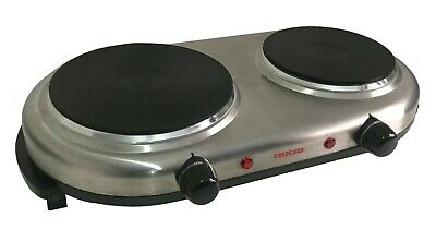 £22.79 • Buy Portable Double Twin Electric Hot Plate Cooking Hob Cooker Hotplate Stove Campin
