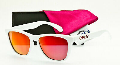 $225 • Buy RARE OAKLEY FROGSKINS USA MADE 03-252 Polished White Ruby Iridium DISPLAY DEAL
