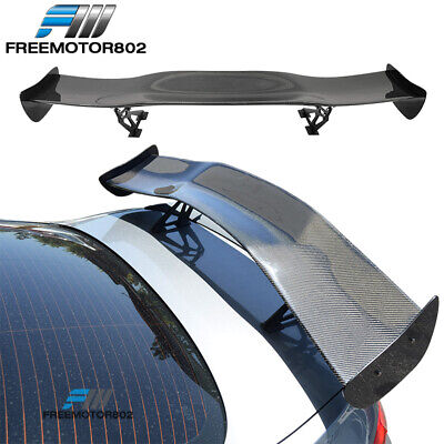 $199.99 • Buy 57 Inches Universal Fit 3D Carbon Fiber (CF) Racing GT Rear Trunk Spoiler Wing