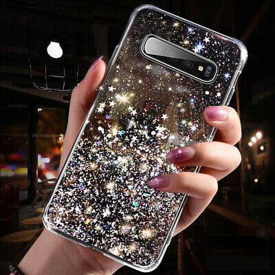 $ CDN4.83 • Buy For Samsung Galaxy S10E S9 S8 Plus Glitter Crystal Clear Silicone TPU Case Cover