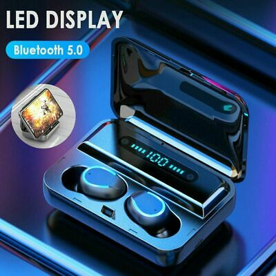 AU31.89 • Buy 2019 Latest TWS Wireless Earphones Bluetooth 5.0 Earbuds 3500mAh IPX7 Waterproof