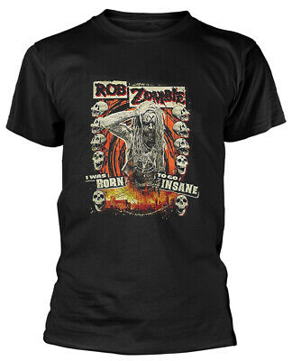 Rob Zombie 'Born To Go Insane' (Black) T-Shirt - NEW & OFFICIAL! • 13.29£