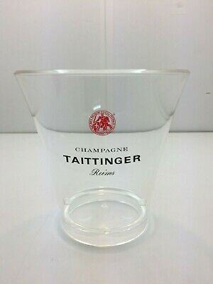 Taittinger Champagne Advertising Acrylic Round See-Through Ice Bucket • 35£