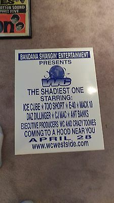 $1457.88 • Buy Ice Cube Too Short Mack 10 E-40 Boxing Style Concert Poster Rap Former Nwa