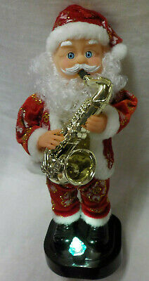 $ CDN31.31 • Buy Santa 13  Vintage Santa W Saxophone Musical Lighted Tree Battery Operated 1990's
