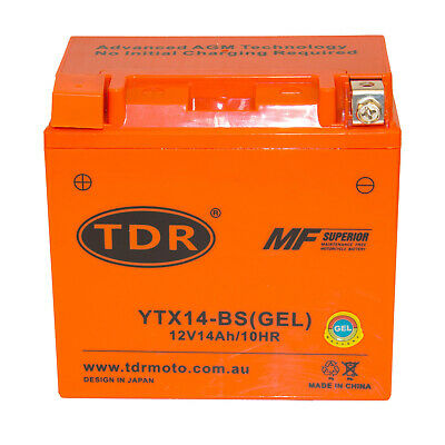 AU71.95 • Buy YTX14-BS Motorcycle Battery For Hyosung 250cc GT250 R 2009 - 2016