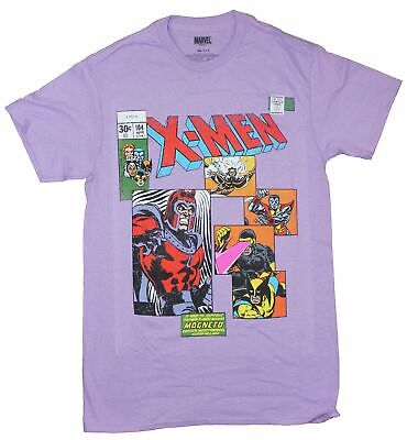 X-Men Mens T-Shirt - Comic Style Cover With Magneto • 13.58£