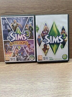 The Sims 3 Base Game For PC & Apple Mac +  Ambitions Expansion  • 9.99£