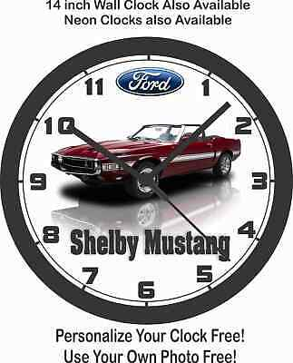 $55.99 • Buy 1969 Ford Shelby Mustang Gt500 Wall Clock-free Usa Ship