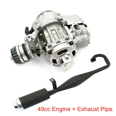 AU129.95 • Buy 49CC 2 Stroke Engine Motor + Exhaust For Pocket MINI Quad Bike Scooter ATV