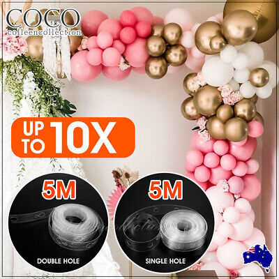 AU4.33 • Buy 5M Balloon Decorate Strip Arch Garland Connect Chain DIY Tape Party Bar Decor AU